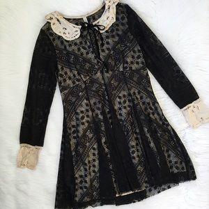 Free People Black Lace Talk That Talk Dress
